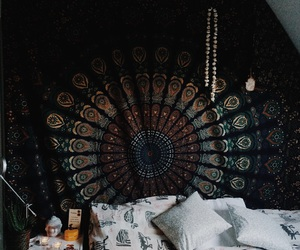 boho, grunge, and bedroom image