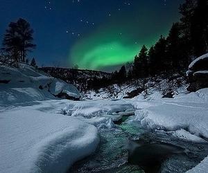 northern lights, nature, and night image