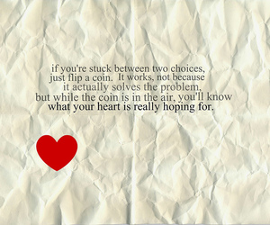 love, choices, and coin image