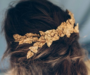 hair, gold, and style image