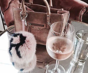fashion, bag, and drink image