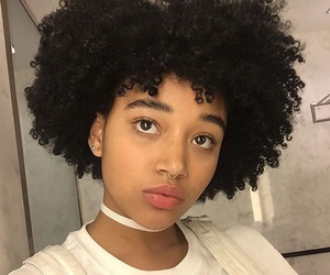 beautiful, curly hair, and amandla stenberg image