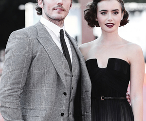 lily collins and sam claflin image