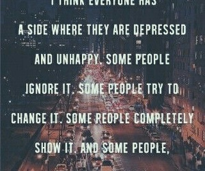 quote, depressed, and sad image