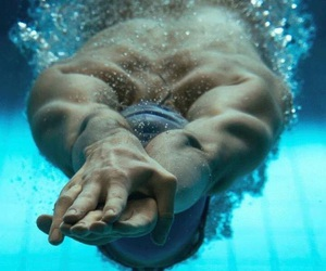 swimmer and water image