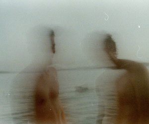 beach, faded, and blur image
