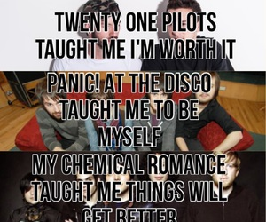 bands, panic! at the disco, and fall out boy image
