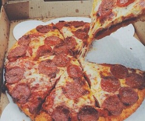 pizza, food, and delicious image