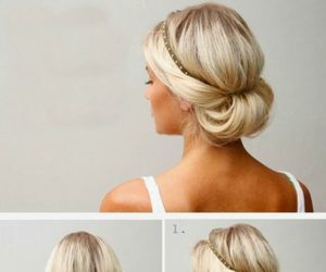 hairstyle, hair, and girl image