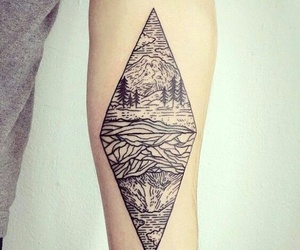tattoo, geometric, and tat image