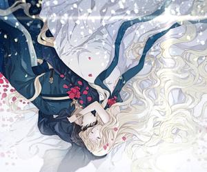 anime, hug, and love image