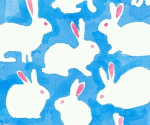 background, bunny, and wallpaper image