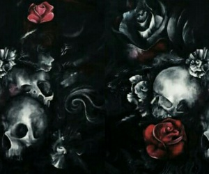 caveira and rosas image