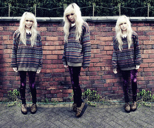 blonde, girl, and oversized sweater image