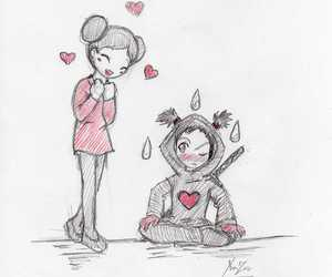 boy, couple, and pucca image