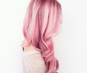 hair, pink, and rosa image