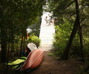 camping, cottage, and fun image