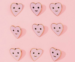 pink, heart, and pins image