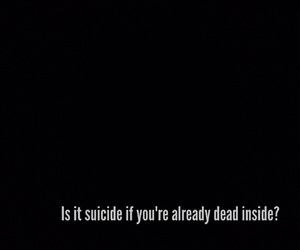 suicide and dead inside image