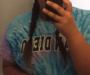braids, tumblr, and big woman image