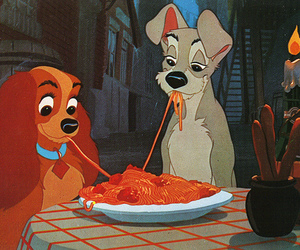 lady, romantic, and lady and the tramp image