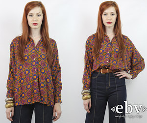 hippie, oversized blouse, and boho blouse image