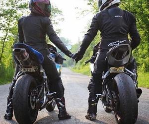 bikes, couple, and love image
