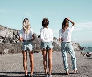 summer, friends, and jeans image