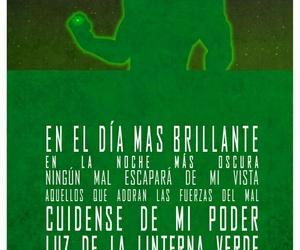 linterna verde, liga de la justicia, and lema image