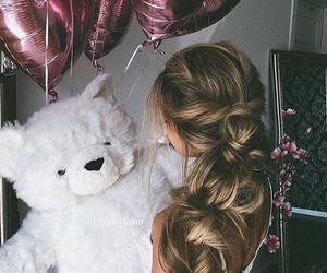 hair, girl, and love image