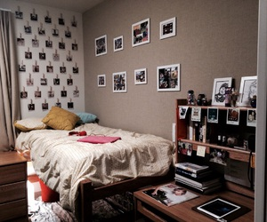 bedroom, home, and college image