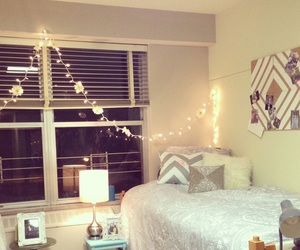 bedroom, college, and dorm image