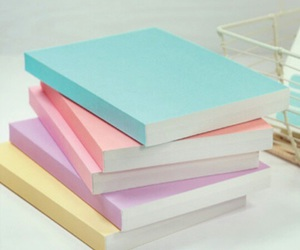 pastel, book, and notebook image
