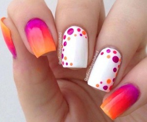 nails, white, and orange image