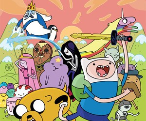 bmo, marceline, and adventure time image