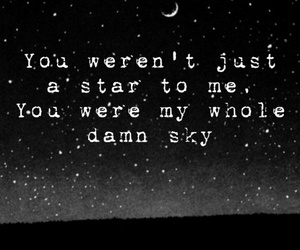 black and white, quotes, and star image