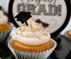 cupcakes, grad, and graduation image
