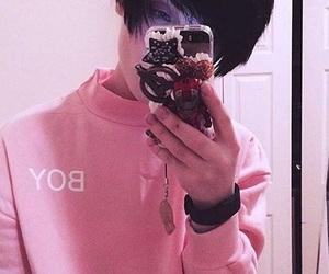 beautiful, boy, and pink image