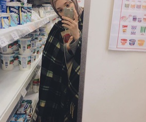 girl, hijab, and markets image