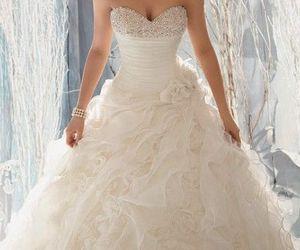 wedding dress, fashion, and beautiful image