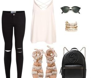 bag, black, and bracelets image