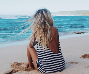 beach and blonde image