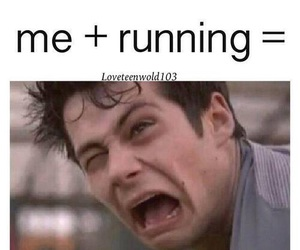 running, teen wolf, and funny image