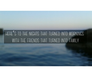 family, friendship, and nights image