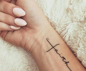 tattoo, faith, and nails image