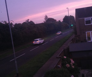 cars, pink, and pink sky image