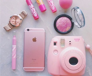 beauty, iphone, and lipstick image