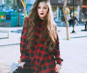 long hair, rock outfit, and tumblr outfit image