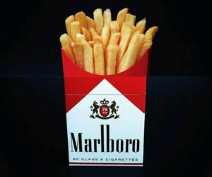 marlboro, fries, and smoke image