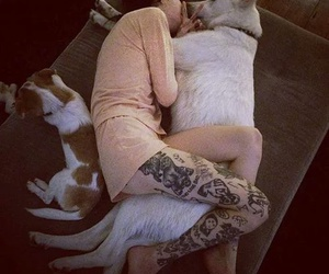 dogs, tattoo girl, and hannah snowdon image